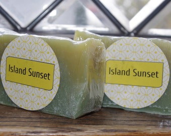 Island Sunset Soap - Cold Process Soap - Handmade Soap