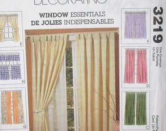 McCall's pattern, home decorating, curtains, drapes, variety of styles