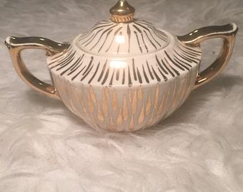 Gold Vintage Sugar Dish
