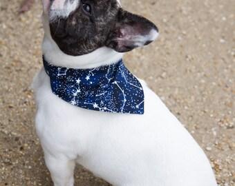 Glowing stars bandana - glows in the dark - for dog collar