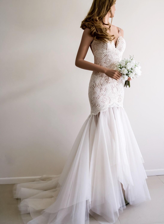 Low Back Mermaid Wedding Dress : Low back wedding dress backless mermaid