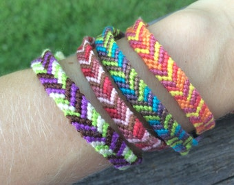 Offset Chevron Friendship Bracelets/Anklets