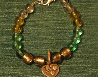 Je t'aime Heart Charm bracelet