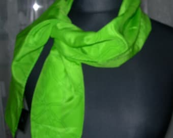 Silk Scarf Steffan Lindfors Silk Scarf Stunning Lime Green Scarf Gift for Her