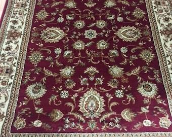 "5'3"" x 7'3"" Turkish Tabriz Oriental Rug - Tayse Kashmir Collection"