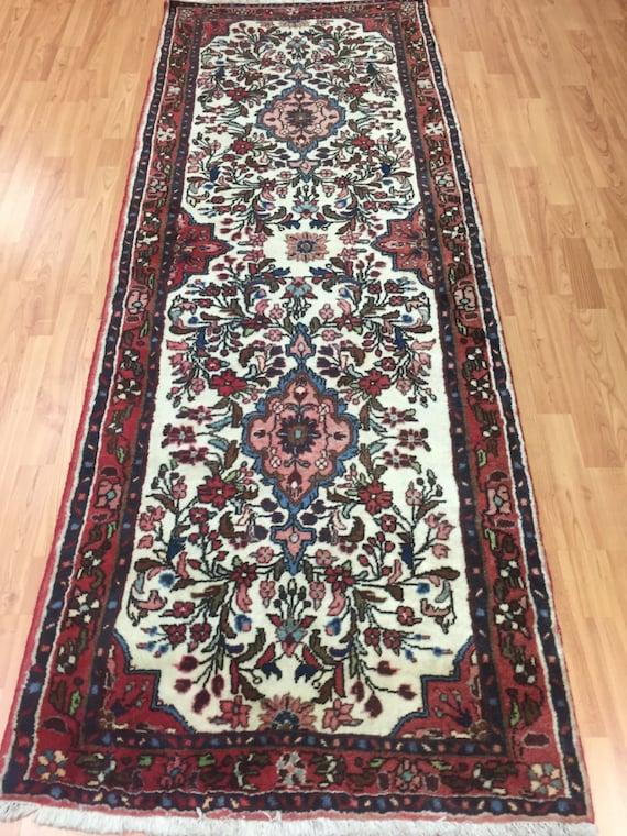 "2'8"" x 7' Persian Rudbar Floor Runner Oriental Rug - Hand Made - 100% Wool"