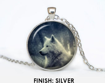 WOLF Necklace, wolf Jewelry, gift for women handmade, silver bronze black, wolf nature Pendant jewelley wolves 042