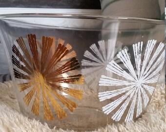 Atomic Era Gold Bowl, Gold and White starburst