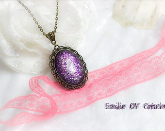NECKLACE VIOLET GLITTER