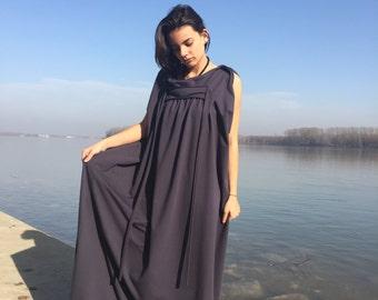 Plus Size Caftan, Loose Fit Dress, Maxi Dress, Kaftan Dress, Gray Long Dress, Casual Dress, Plus Size Dress, Women Dress, Spring Clothing