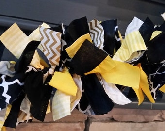 Graduation Rag Garland, 5 ft. Graduation Rag Garland, Graduation Party Garland, Graduation Decoration