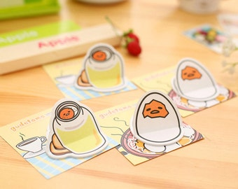 Kawaii Gudetama Sticky Notes / Cute Sticky Notes / Kawaii Sticky Notes / Cute Egg Notes / Egg Sticky Notes / Stationary / Korean Stationery