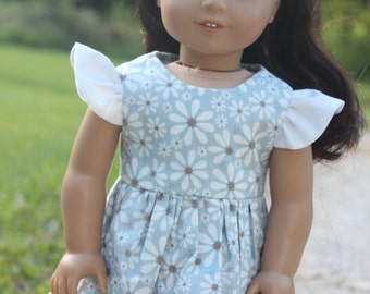 "American Girl Doll Clothes, 18"" doll clothes, Flutter Sleeve Dress, kayleesboutique03"