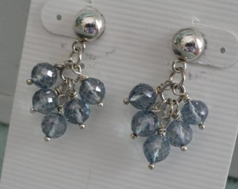 Blue Mystic Quartz Earrings   -   #363