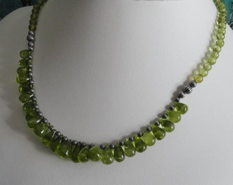 Peridot necklace and earring set  -   #467