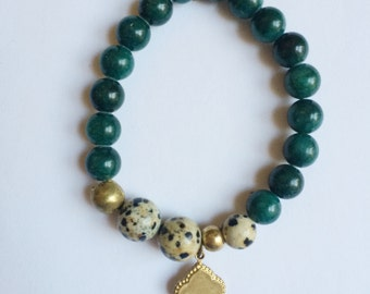 emerald & gold bracelet