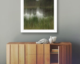 Water Reflection Print, Fine Art Photography, Australian Photo, Meditation Print, Abstract Coastal Art, Giclee Nature Print, Sarah Bell, Art