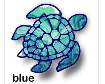 sea turtle sticker / decal **Free Shipping**