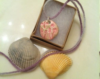 Pink Meadow Clay Necklace