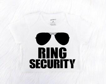 Ring Bearer Shirt or Bodysuit, Ring Security Shirt, Ring Bearer T-shirt, Boys Wedding Shirt, Ring Bearer Gift, Bridal Party Gift
