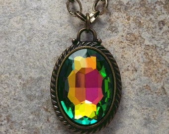 Rainbow Gemstone Pendant