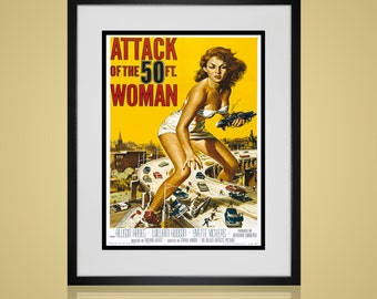 Framed Wall Art - VINTAGE MOVIE POSTER - Wall Art Sets - Available In 4 Sizes - Choose Black or Antique White Frames - Create A Custom Wall