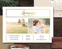 Summer Mini Session Template, Photoshop Template for Photographers, Photography Marketing Template, INSTANT DOWNLOAD - MS001