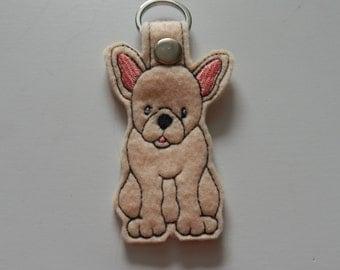 French Bulldog (Embroidery/Felt/Keychain)