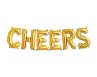 Cheers Balloon Banner | Letter Balloons | Engagement Party Decorations | Bachelorette Party Decorations | Birthday Balloon Decorations
