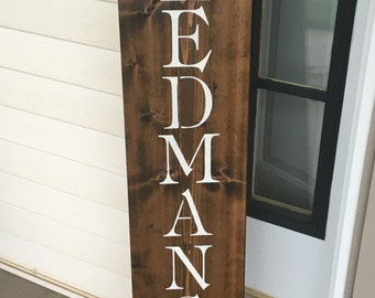Custom Name Sign, Wooden Sign, Last Name, Rustic Family Established, Personalized Name Sign, Wedding, Anniversary Personalized Gift,