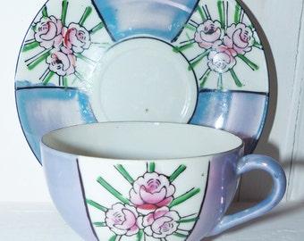 Lusterwear Vintage China Teacup and Saucer Japan - 225