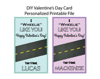 Printable kid Valentine Day card DIY Valentine Day kid card VALENTINE day diy Valentine Day School Favor DIY Valentine Class Valentine Day