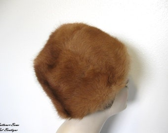 Vintage Soft Chesnut Brown Fur Hat Circa 1960's