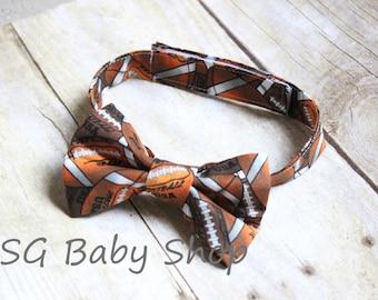 Little Boy Football Bowtie Baby Boy Toddler Football Bow Ties - Baby bow tie - toddler bow ties