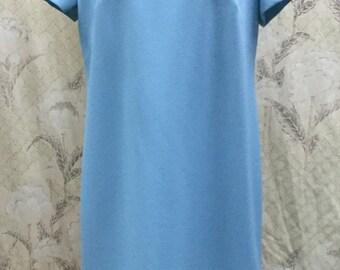 Vintage 1960s Blue Beaded Shift Dress, Deadstock 1960s Dress