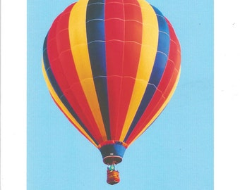HOT AIR BALLOON. 0020,  notecard, blank, folding