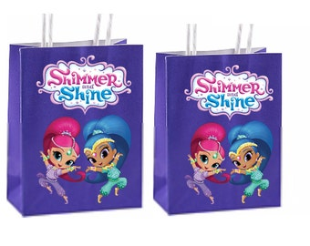 Shimmer and shine Party Favor Bag Printable Instant Download
