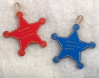 Handmade Personalized Western Star Sheriff Star Ornament