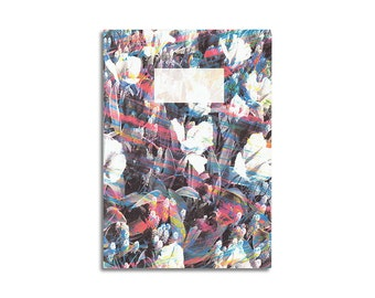 Journal Notebook Flower Abstract original design pocket size - journal, sketchbook, blank pages A6