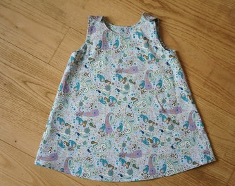 Robe trapeze 2 years, dress was daughter, jumper, printed cashmere, re-entry, clothing baby, dress babygirl, 24 months, dress baby, liberty