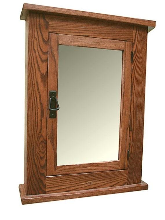 Oak Primitive Mission Medicine Cabinet Solid Oak Wood