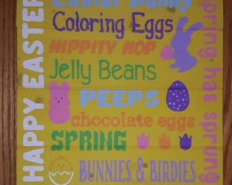 Spring/ Easter Wood Sign