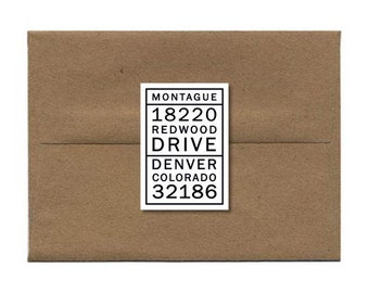 Custom Address Label, Modern Address Stickers, Return Address Label - Set of 18 (#101)