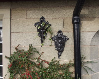 Wall planter sconce rococo style cast iron