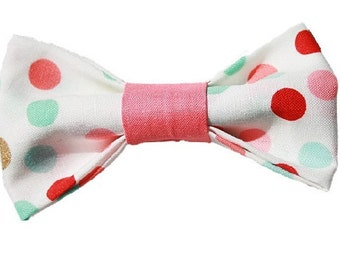 Birthday Dots dog bow|Custom color coordination|Dog bowtie|Polka Dot|Gifts for dogs|Swarovski