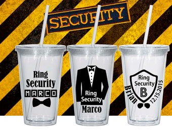 Ring Security Tumbler, Ring Security Cup, Ring Security, Ring security gift, Ring Bearer Security Badge, Ring Security tux, Ring Bearer