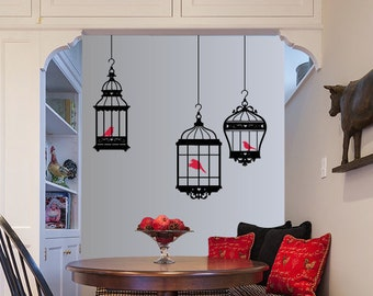 Pretty Bird Cages Wall Decal (1963-WALL)