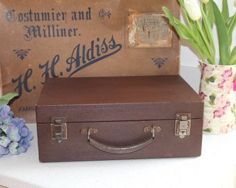 Vintage Wooden Case/Instrument Case/Insulated Case/ Leather Covered Box/Tool/Storage/Decorative.SALE
