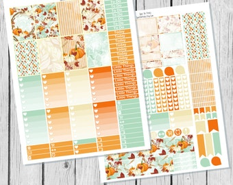 Fall Harvest Planner Sticker Happy Planner Printable / Happy Planner Sticker Printable / Fall Planner Sticker Kit