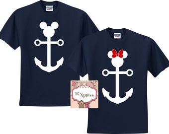 Nautical Disney Vacation Shirts, Disney Vacation Tshirt, Nautical Tshirt, Disney Cruise Shirt, Disney Cruise, Mickey Mouse, Minnie Mouse
